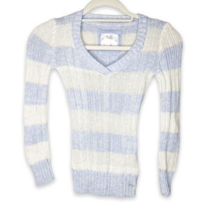 Justice Blue Striped Winter Sweater Size 10